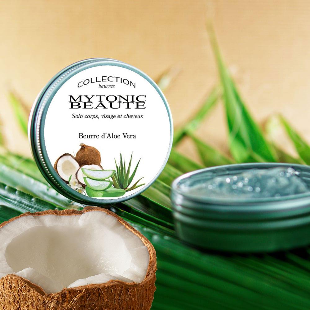 Hydrater avec du Beurre Aloe Vera et coco