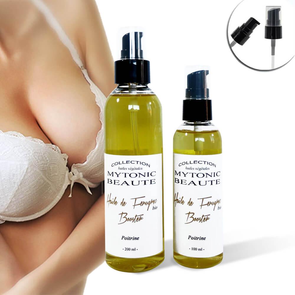 Huile de fenugrec bio Booster pour grossir la poitrine plus rapidement naturellement