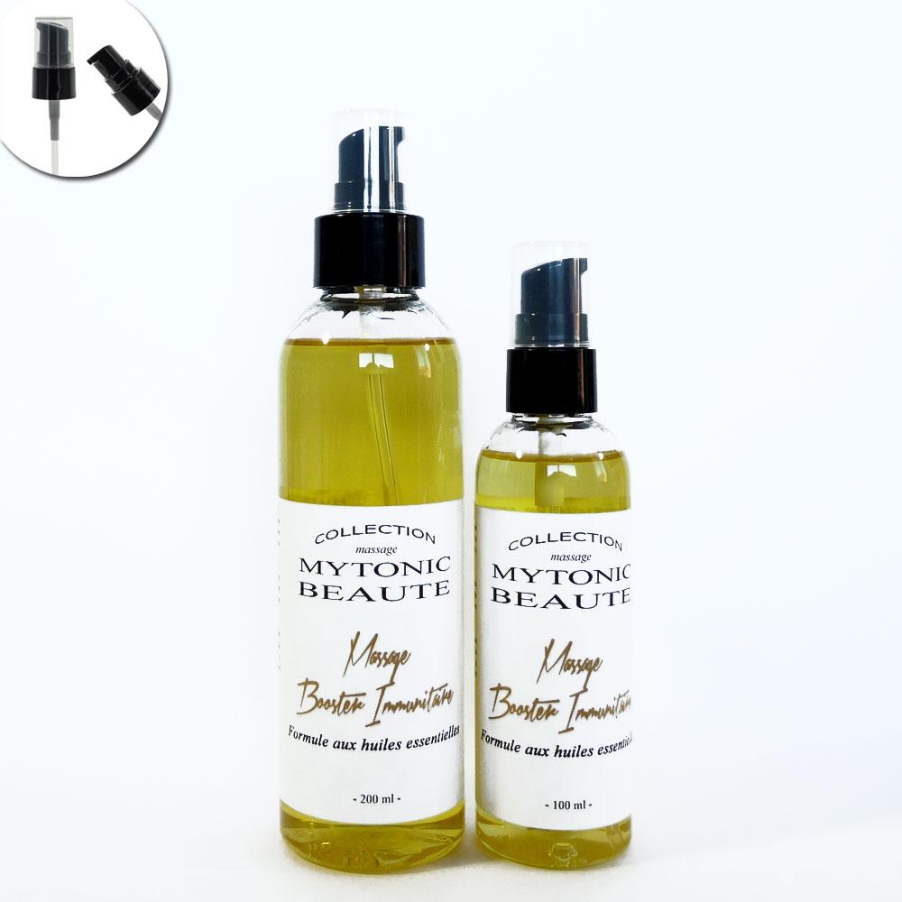 mélange d'huile de massage, végétales et essentielles booster immunitaire