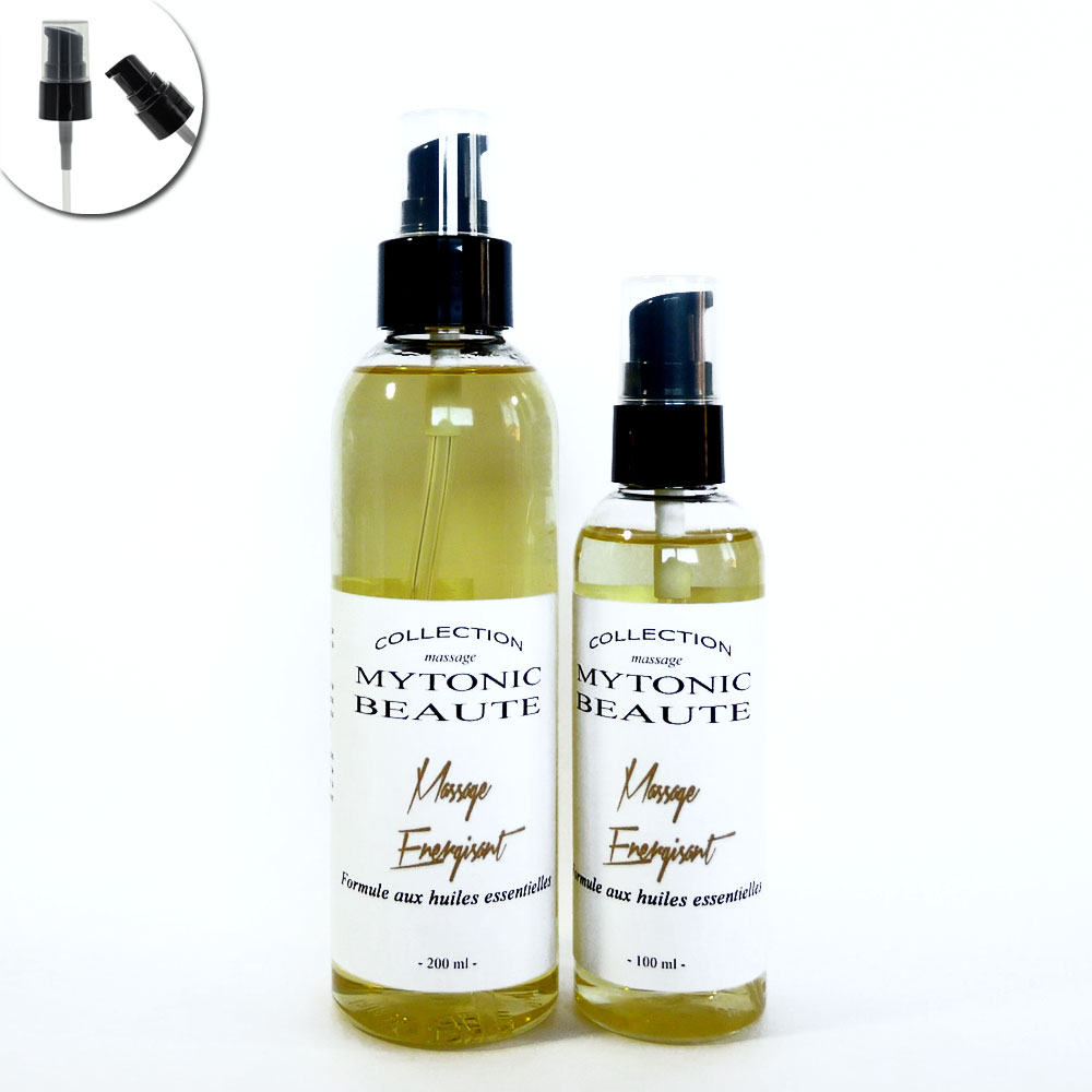 mélange d'huile de massage, végétales et essentielles énergisant