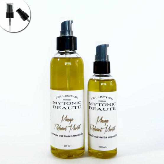mélange d'huile de massage, végétales et essentielles pour la relaxation mentale