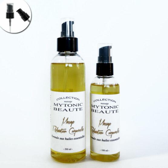 mélange d'huile de massage, végétales et essentielles pour la relaxation corps et esprit