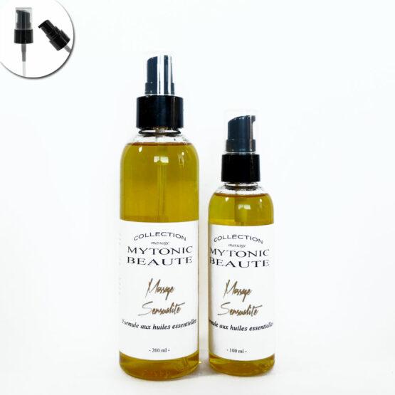 mélange d'huile de massage, végétales et essentielles Sensualité