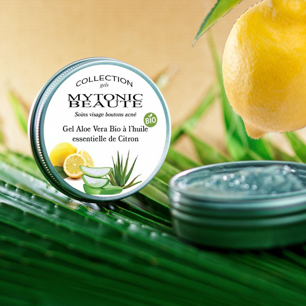 Gel aloe vera bio à l'huile essentielle de citron